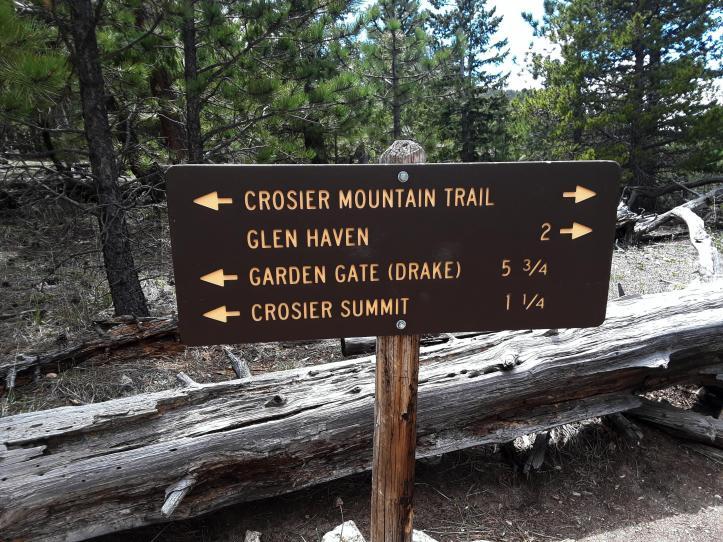 Crosier Mountain Trail Intersection_05-18-19