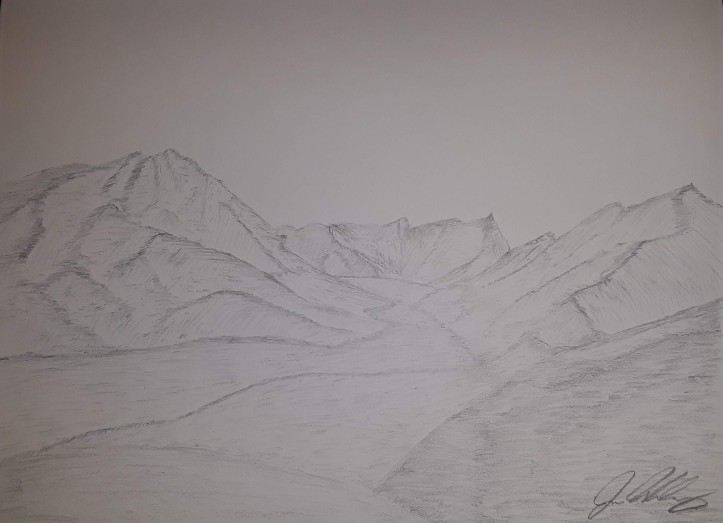 Mountain Landscape Sketch