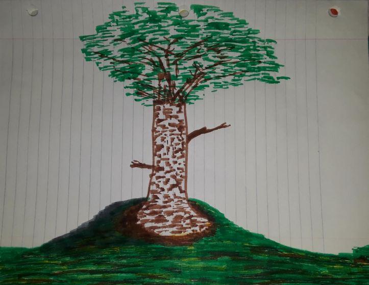 Tree Sketch in Marker