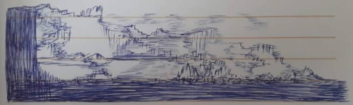 Landscape in Pen